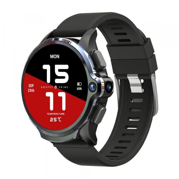 Smartwatch Kospet Prime, 4G, IPS 1.6inch Super Retina, 3GB RAM, 32GB ROM, Android 7.1.1, Wi-Fi, GPS, Cortex-A53 Quad Core, 1260mAh imagine