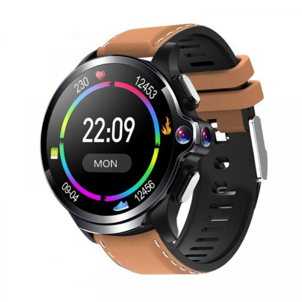 Smartwatch AllCall AWatch GT, 4G, IPS 1.6inch, 3GB RAM, 32GB ROM, Android 7.1, Wi-Fi, GPS, Cortex-A53 QuadCore, Face ID, 1260mAh, Maro imagine