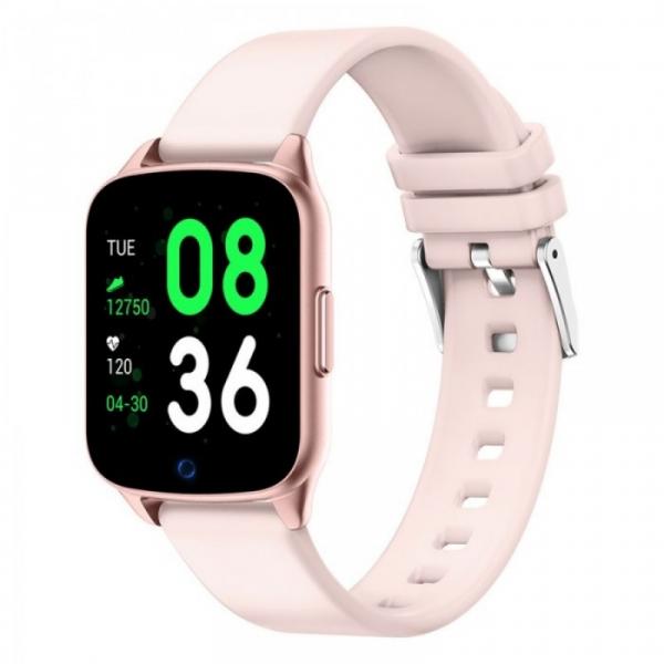 Smartwatch iHunt Watch Me 2020 Roz, TFT 1.3 , Ritm cardiac, Nivel oxigen in sange, Tensiune arteriala, Calorii, Hidratare, 130mAh imagine