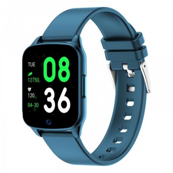 Smartwatch iHunt Watch Me 2020 Albastru, TFT 1.3 , Ritm cardiac, Nivel oxigen in sange, Tensiune arteriala, Calorii, Hidratare, 130mAh imagine