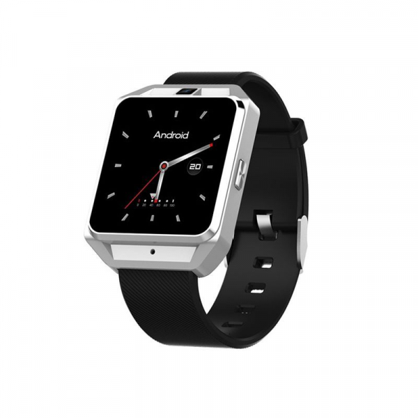 Smartwatch IWatch M5, 4G, Android 6.0, 1.54 inch, MTK6737M, Waterproof, GPS, 1GB RAM, 8GB ROM, Monitorizare Ritm Cardiac, Silver, Resigilat imagine