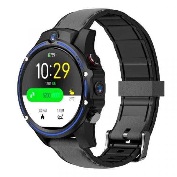 Smartwatch Kospet Vision, 4G, IPS 1.6 , 3GB RAM, 32GB ROM, Android 7.1.1, MTK6739 QuadCore, Wi-Fi, GPS, 800mAh, Negru cu Albastru imagine