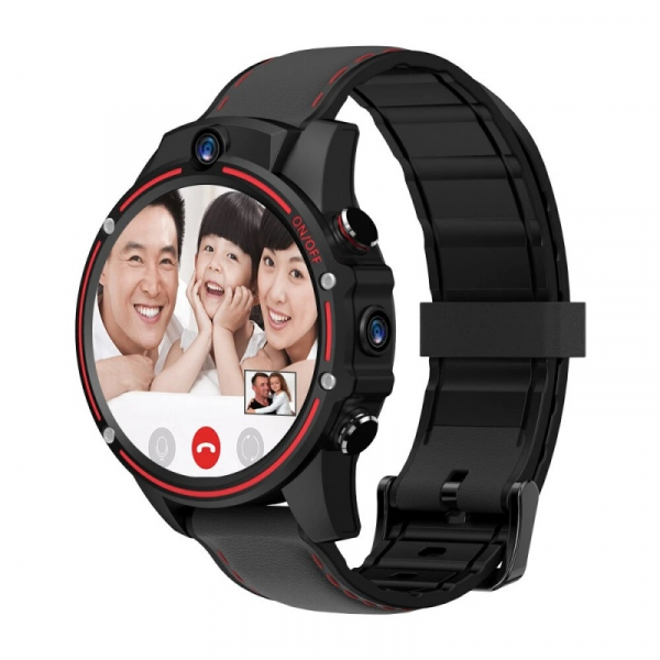 Smartwatch Kospet Vision, 4G, IPS 1.6 , 3GB RAM, 32GB ROM, Android 7.1.1, MTK6739 QuadCore, Wi-Fi, GPS, 800mAh, Negru cu Rosu imagine