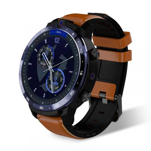 Smartwatch Lemfo LEM12 Pro, 4G, IPS 1.6 , 4GB RAM, 64GB ROM, Android 10, MT6762 OctaCore, GPS, Proiectie wireless, 900mAh, Maro imagine