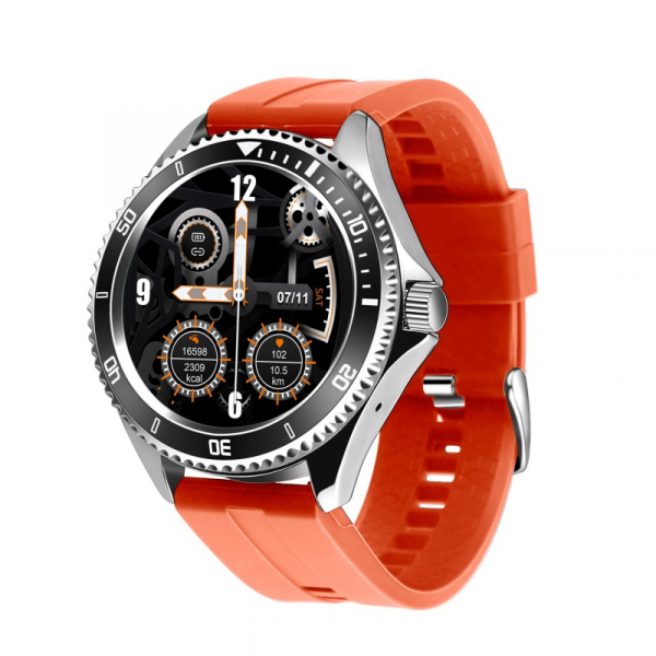 Smartwatch STAR Z69, TFT 1.28 , Bluetooth v5.1, Ritm cardiac, Presiune sanguina, Monitorizare menstruatie, IP65, 350mAh, Orange imagine
