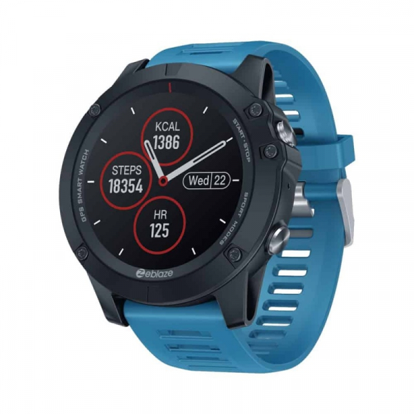 Smartwatch Zeblaze Vibe 3 GPS, IPS 1.3 , GPS, Ritm cardiac, Calorii, Meteo, Bluetooth, Waterproof, 280mAh, Albastru imagine
