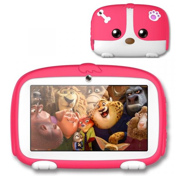 Tableta Beneve Q718, 3G, LCD 7 , Android 9, 1GB RAM, 16GB ROM, Wi-Fi, Camera, Slot card, 2800mAh, Roz imagine