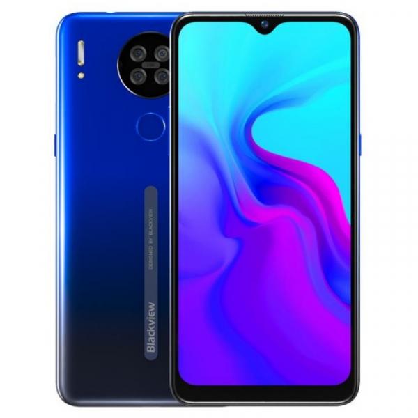 Telefon mobil Blackview A80 2020, 4G, IPS 6.21 , 2GB RAM, 16GB ROM, Android 10 GO, MT6737V W, Quad Camera, 4200mAh, Dual SIM, Albastru imagine