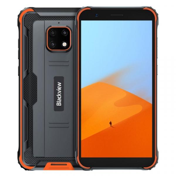 Telefon mobil Blackview BV4900, 4G, IPS 5.7 , 3GB RAM, 32GB ROM, Android 10, Helio A22 QuadCore, NFC, 5580mAh, Dual SIM, Orange imagine
