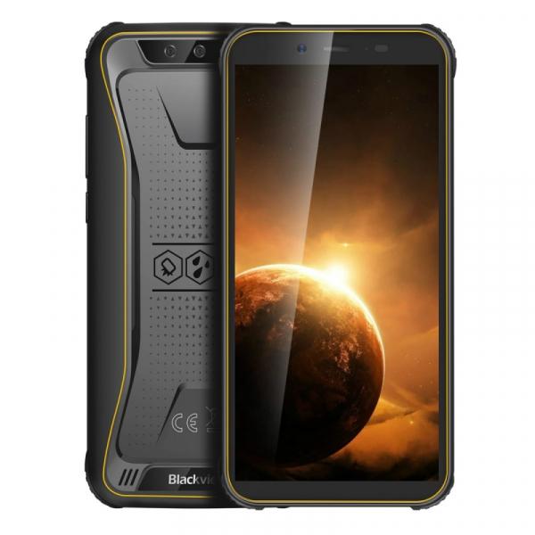 Telefon mobil Blackview BV5500 Plus, 4G, IPS 5.5inch, 3GB RAM, 32GB ROM, Android 10, MT6739 QuadCore, IP68, 4400 mAh, Dual SIM, Galben imagine