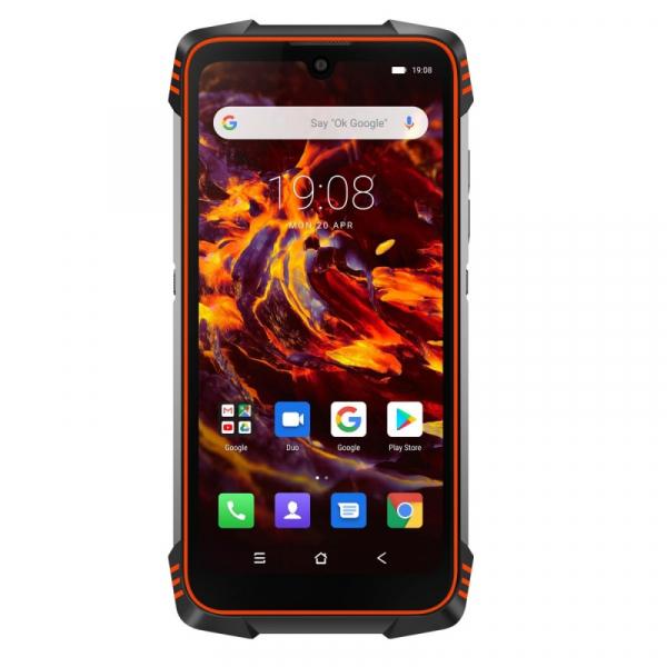 Telefon mobil Blackview BV6900, 4G, IPS 5.84inch, 4GB RAM, 64GB RAM, Android 9.0, Helio P25 OctaCore, Waterproof, 5580mAh, Dual SIM, Orange imagine