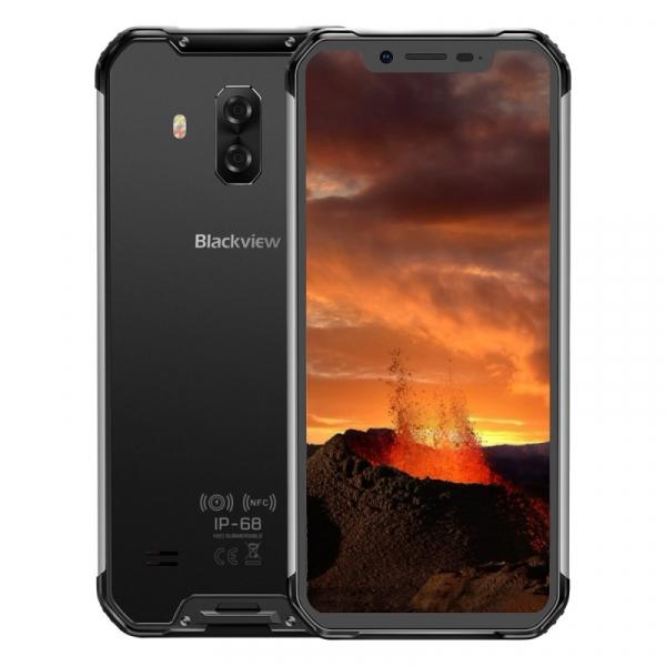 Telefon mobil Blackview BV9600E, 4G, AMOLED 6.21inch, 4GB RAM, 128GB ROM, Android 9.0, Helio P70 OctaCore, Dual SIM, 5580mAh, Silver imagine