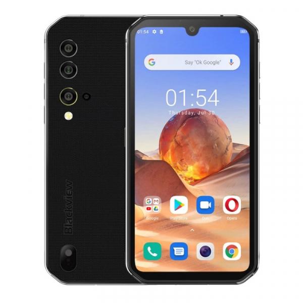 Telefon mobil Blackview BV9900E, 4G, IPS 5.84 , 6GB RAM, 128GB ROM, Android 10, Helio P90 OctaCore, NFC, 4380mAh, Dual SIM, Silver imagine
