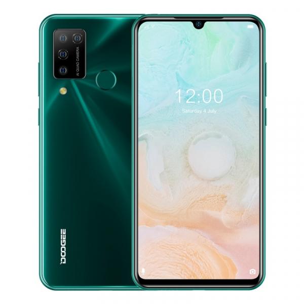 Telefon mobil Doogee N20 Pro, 4G, IPS 6.3 Waterdrop, 6GB RAM, 128GB ROM, Android 10, Helio P60, 4400mAh, Dual SIM, Verde imagine