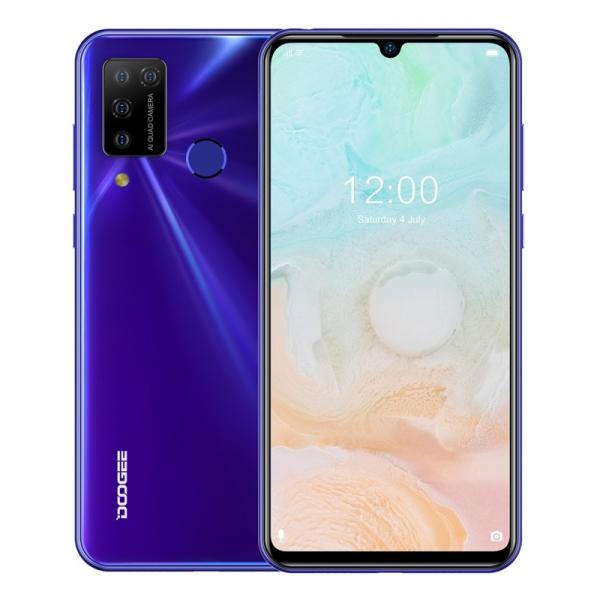 Telefon mobil Doogee N20 Pro, 4G, IPS 6.3 Waterdrop, 6GB RAM, 128GB ROM, Android 10, Helio P60, 4400mAh, Dual SIM, Mov imagine
