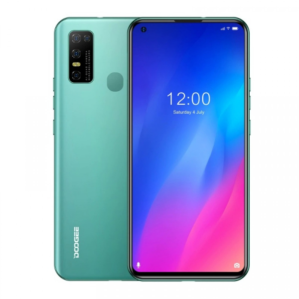 Telefon mobil Doogee N30, 4G, IPS 6.55 , 4GB RAM, 128GB ROM, Android 10, Helio A25 OctaCore, Incarcare rapida 10W, 4500mAh, Verde imagine