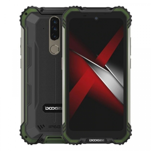 Telefon mobil Doogee S58 Pro, 4G, IPS 5.71 , 6GB RAM, 64GB ROM, Android 10, Helio P22, Camera submersibila, 5180mAh, Dual SIM, Verde imagine