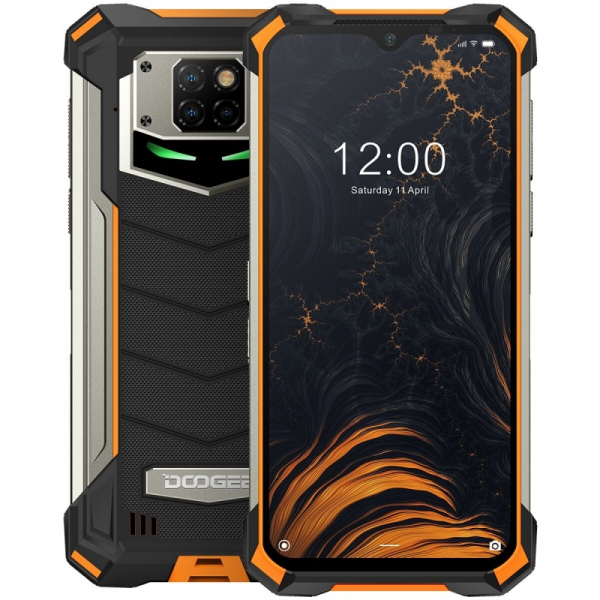 Telefon mobil Doogee S88 Pro, 4G, IPS 6.3 , 6GB RAM, 128GB ROM, Android 10, Helio P70 OctaCore, Waterproof, 10000mAh, Dual SIM, Orange imagine