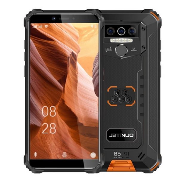 Telefon mobil Oukitel WP5 Pro, 4G, IPS 5.5 , 4GB RAM, 64GB ROM, Android 10, Helio A25 OctaCore, Waterproof, 8000mAh, Dual SIM, Orange imagine