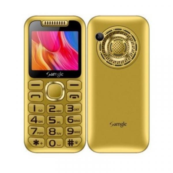 Telefon mobil Samgle Halo, 3G, TFT 2.0 color, Camera 2.0MP, Bluetooth, FM, Lanterna, 3000mAh, Dual SIM, Stand incarcare cadou, Gold imagine