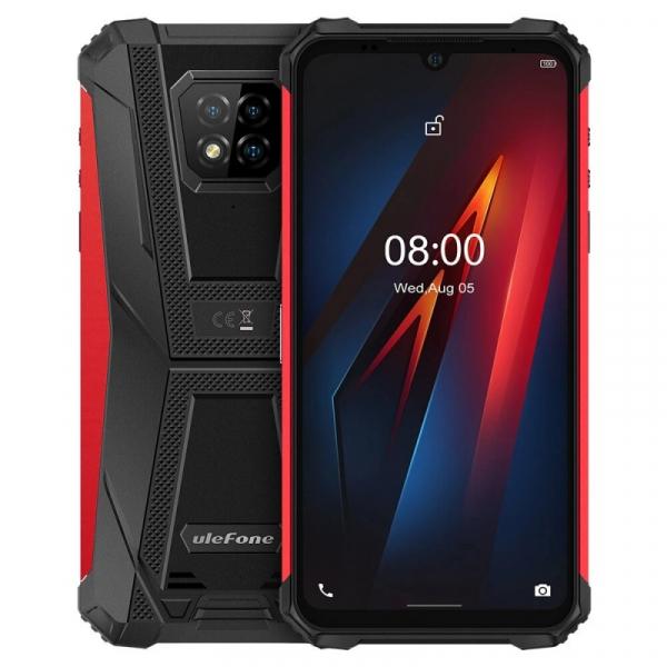 Telefon mobil Ulefone Armor 8, 4G, IPS 6.1 , 4GB RAM, 64GB ROM, Android 10, Helio P60, Camera submersibila, 5580mAh, Dual SIM, Rosu imagine