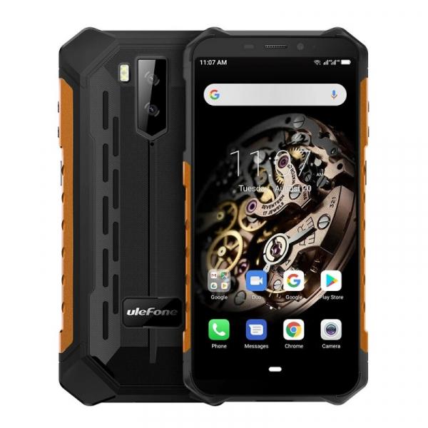Telefon mobil Ulefone Armor X5, 4G, IPS 5.5inch, 3GB RAM, 32GB ROM, Android 10.0, MT6762 OctaCore, Waterproof, 5000mAh, Dual SIM, Orange imagine