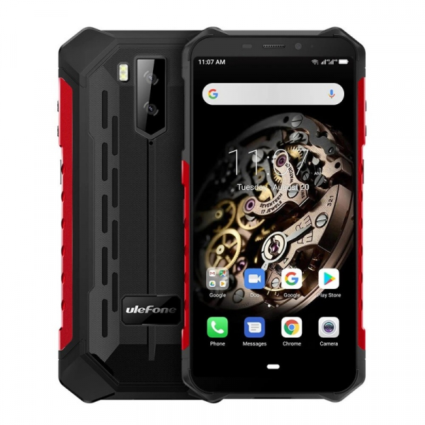 Telefon mobil Ulefone Armor X5, 4G, IPS 5.5inch, 3GB RAM, 32GB ROM, Android 10.0, MT6762 OctaCore, Waterproof, 5000mAh, Dual SIM, Rosu imagine