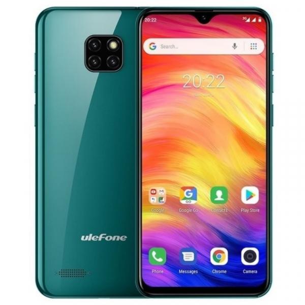 Telefon mobil Ulefone Note 7, IPS 6.1inch, 1GB RAM, 16GB ROM, Android 8.1 GO, MT6580 QuadCore, 3500mAh, Dual SIM, Verde imagine