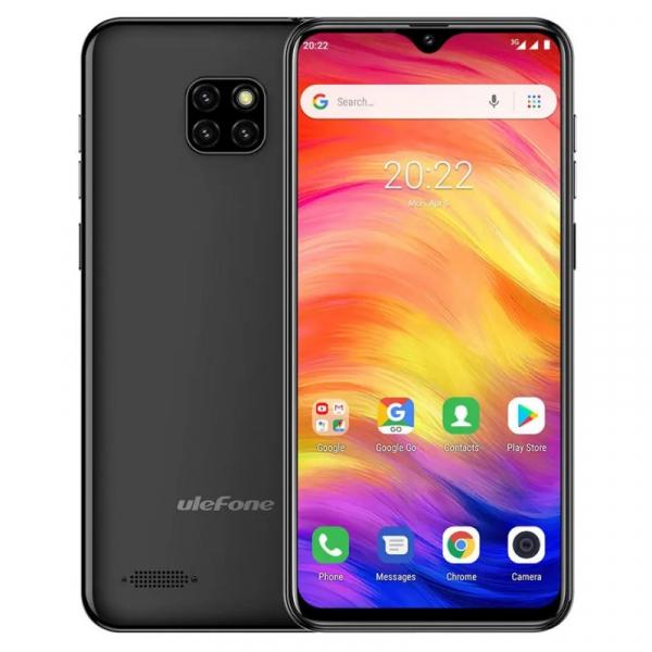 Telefon mobil Ulefone Note 7, IPS 6.1inch, 1GB RAM, 16GB ROM, Android 8.1 GO, MT6580 QuadCore, 3500mAh, Dual SIM, Negru imagine