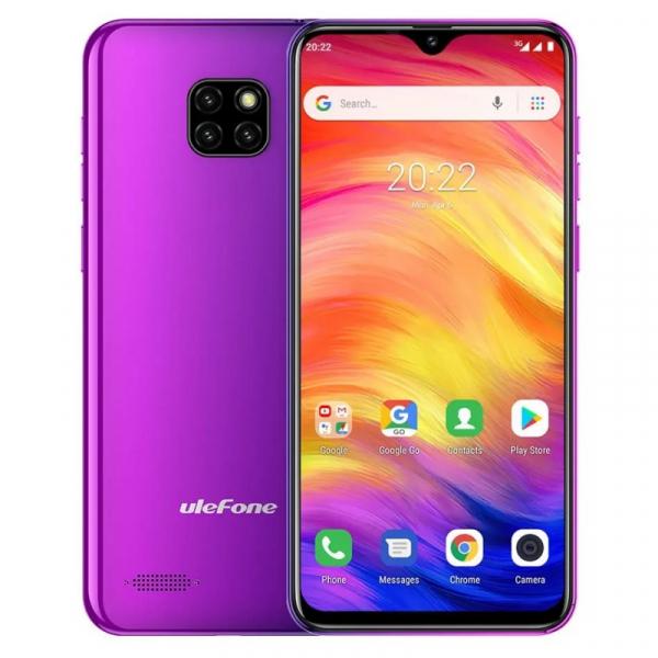 Telefon mobil Ulefone Note 7, IPS 6.1inch, 1GB RAM, 16GB ROM, Android 8.1 GO, MT6580 QuadCore, 3500mAh, Dual SIM, Mov imagine
