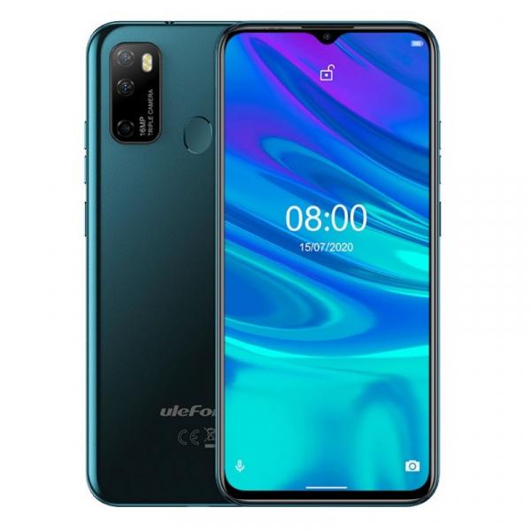Telefon mobil Ulefone Note 9P, 4G, 6.52 Waterdrop, 4GB RAM, 64GB ROM, Android 10, Helio P22 OctaCore, 4500mAh, Dual SIM, Verde imagine