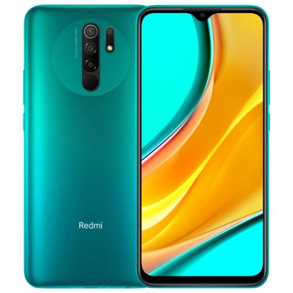 Telefon mobil Xiaomi Redmi 9, 4G, IPS 6.53 DotDisplay, 3GB RAM, 32GB ROM, MIUI v12, Helio G80 OctaCore, NFC, 5020mAh, Dual SIM, EU, Verde imagine