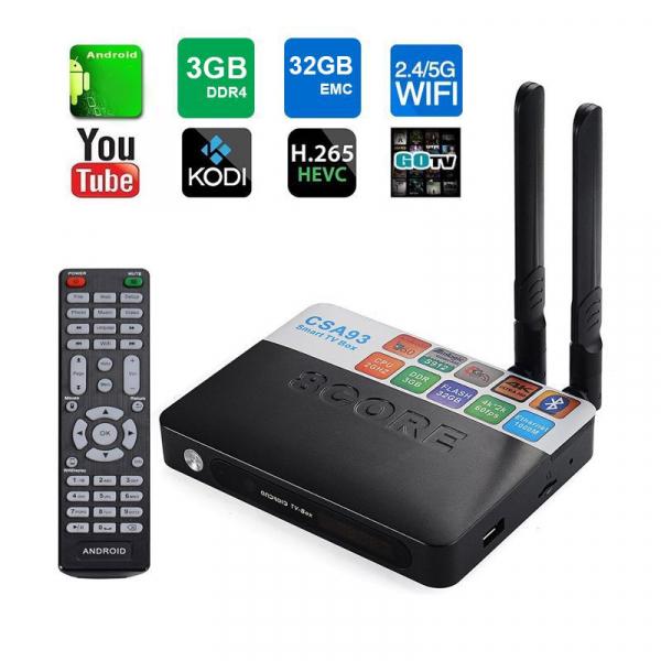 TV BOX CSA93 PRO 4K, KODI, Amlogic S912 Octa Core 64 biti, 3GB RAM 32 GB ROM, Wireless dual band, BT, DLNA, Airplay, Miracast, Resigilat imagine
