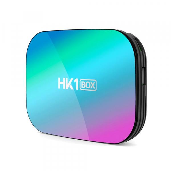 TV Box HK1 BOX Smart Media Player, 8K, RAM 4GB, ROM 128GB, Amlogic S905X3, Android 9.0, Slot Card, Quad Core imagine
