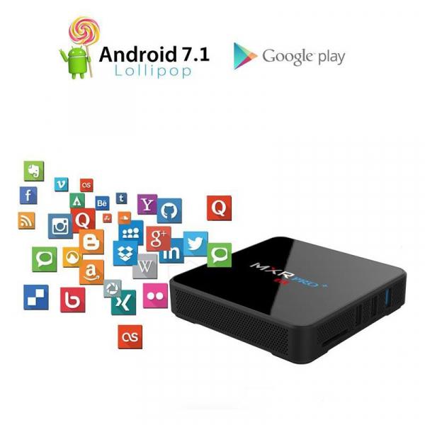 TV BOX MXR PRO Plus 4K RK3328 Quad-Core, KODI, 4 gb Ram, 32 Rom Android 7 1, WiFi dual band imagine