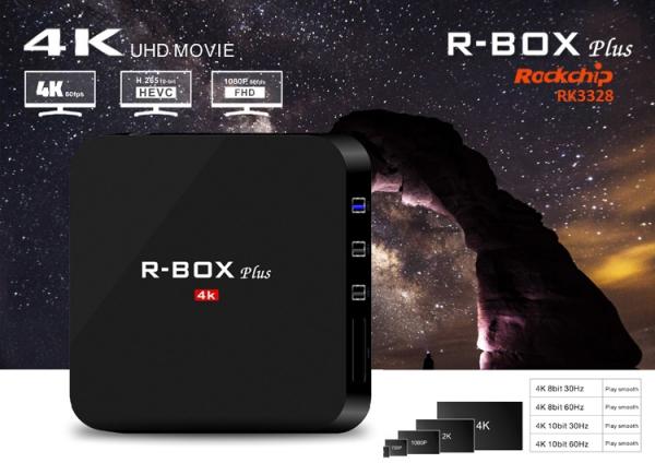 Tv box R BOX Plus KODI 18 TV BOX 4K Android 7 8.1 2GB RAM 16GB Memorie interna imagine