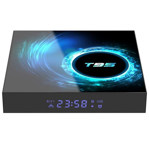 TV Box T95, 6K, Android 10.0, 4GB RAM, 128GB ROM, H616 Quad Core, Mali-G31, HDR 10, Kodi 18.1, Wi-Fi Dual Band, Slot card imagine
