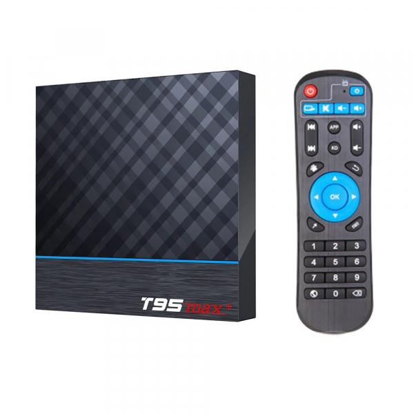 TV Box T95 Max Plus, 8K, 4GB RAM, 32GB ROM, Android 9, S905X3 Quad Core, ARM G31 MP2, Wi-Fi, Bluetooth, USB 3, Slot card imagine