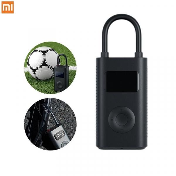 Pompa de aer electrica Xiaomi Mi Portable Air Pump, 2000 mAh, Monitorizare digitala a presiunii, Auto-oprire, 150psi, Micro-USB imagine
