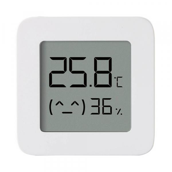 Termohigrometru wireless Xiaomi Mi Temperature and Humidity Monitor 2, LCD 1.5 , Bluetooth v4.2, CR2032, Alb imagine