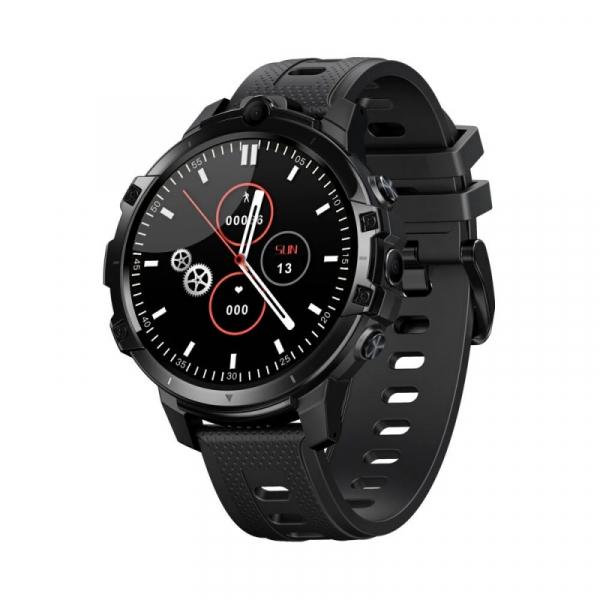 Smartwatch Zeblaze Thor 6 Negru, 4G, IPS 1.6 , 4GB RAM, 64GB ROM, Android 10, Helio P22 OctaCore, Face ID, GPS, Dual camera, 830mAh imagine